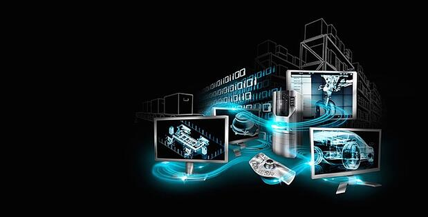 *um presents AI for Industry 4.0 (Image: Hannover Messe 2017)