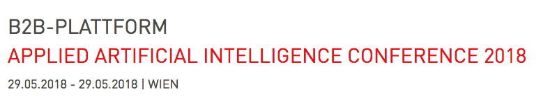 Applied Artificial Intelligence Conference // May 29, Vienna